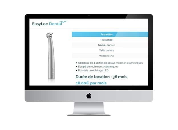 Personnalisation Commande Et Durée Location - Easyloc Dental